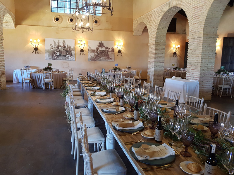 Salón en Hacienda para Bodas en Sevilla