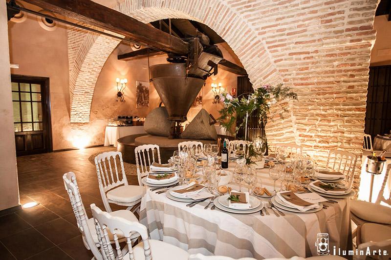Hacienda para la celebración de bodas en Sevilla. Interior restaurado.